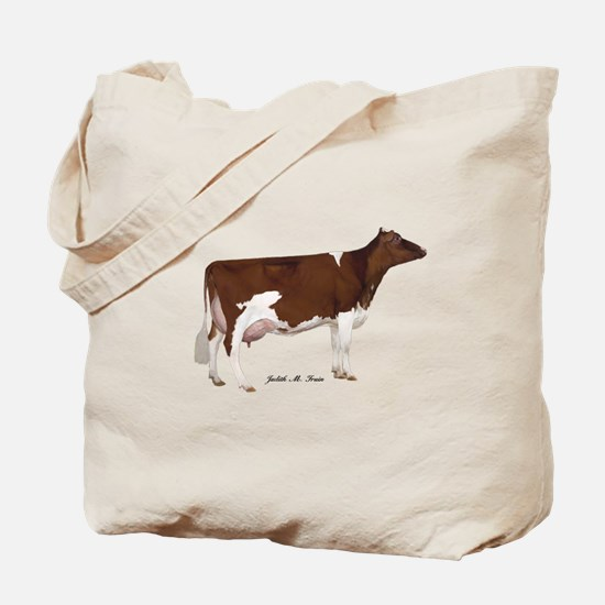 Red and White Holstein Cow Tote Bag