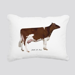 Red and White Holstein Cow Rectangular Canvas Pill