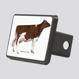 Red and White Holstein Cow Rectangular Hitch Cover