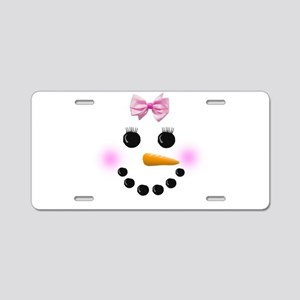Snow Woman Aluminum License Plate