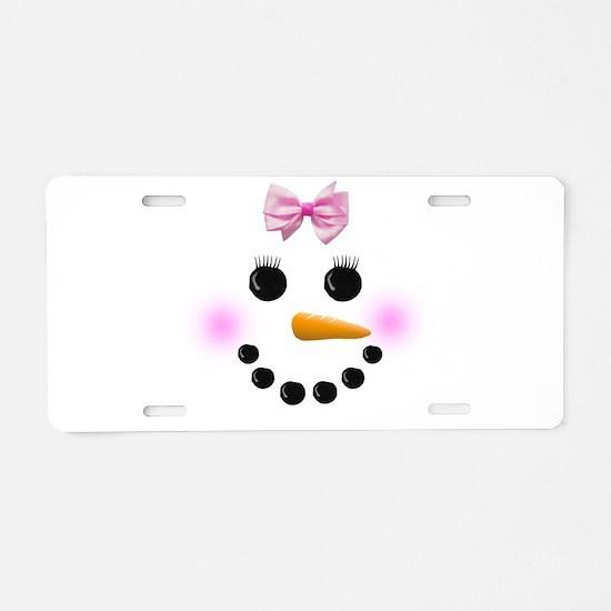 Snow Woman Aluminum License Plate