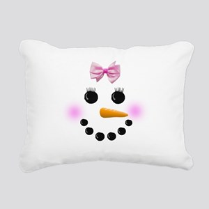 Snow Woman Rectangular Canvas Pillow