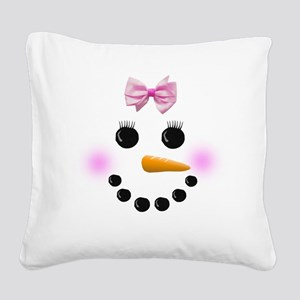 Snow Woman Square Canvas Pillow