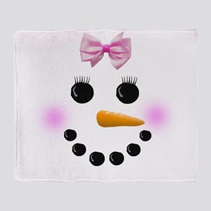 Snow Woman Throw Blanket