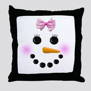 Snow Woman Throw Pillow