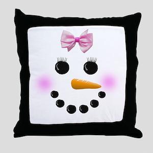 Snow Woman Throw Pillow