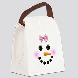 Snow Woman Canvas Lunch Bag