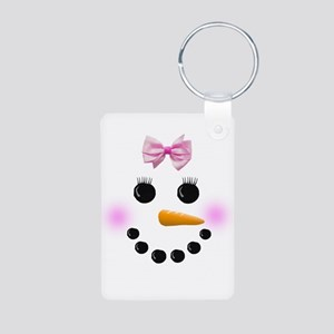 Snow Woman Aluminum Photo Keychain