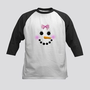 Snow Woman Kids Baseball Jersey