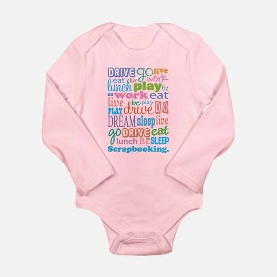 Scrapbooker Long Sleeve Infant Bodysuit
