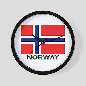 Norway Flag Stuff Wall Clock