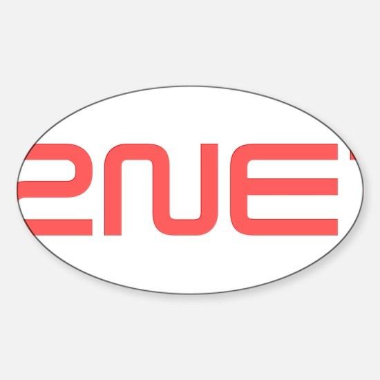 2NE1 red logo Sticker (Oval)