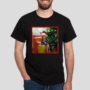 Christmas chihuahua dog Dark T-Shirt