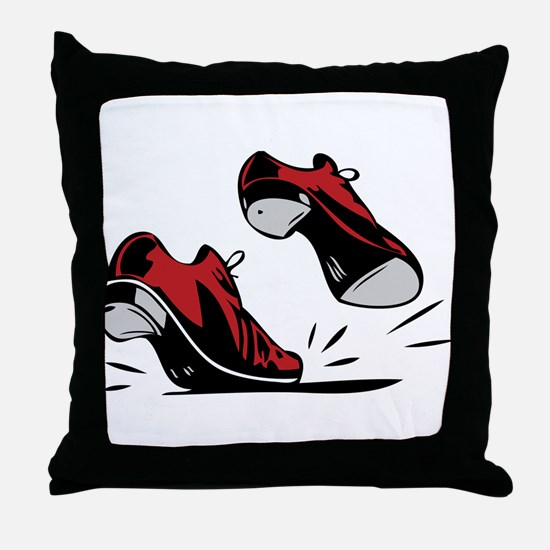Tap Dancing Shoes Throw Pillow