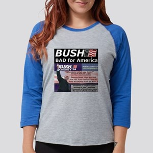 bad_for_america Womens Baseball Tee