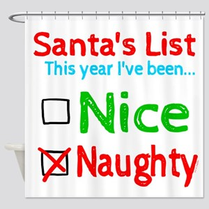 Santa's Nice or Naughty List Shower Curtain