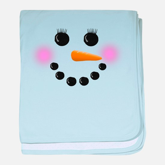 Snow Woman Face baby blanket