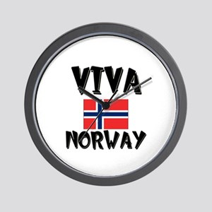 Viva Norway Wall Clock