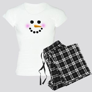 Snowman Face Women's Light Pajamas