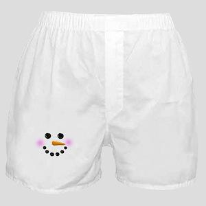 Snowman Face Boxer Shorts