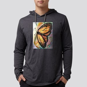 Orange Monarch Butterfly! Nature art! Mens Hooded