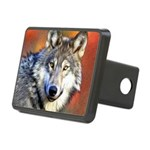 Wolf Art Painting Rectangular Hitch Cover