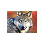 Wolf Art Painting 35x21 Wall Decal