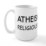 Atheism Cures Religious Terrorism Large Mug