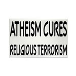 Atheism Cures Religious Terrorism Rectangle Magnet