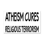 Atheism Cures Religious Terrorism Rectangle Car Ma