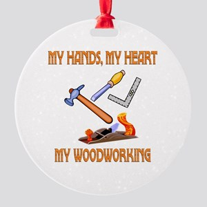 Woodworking Round Ornament