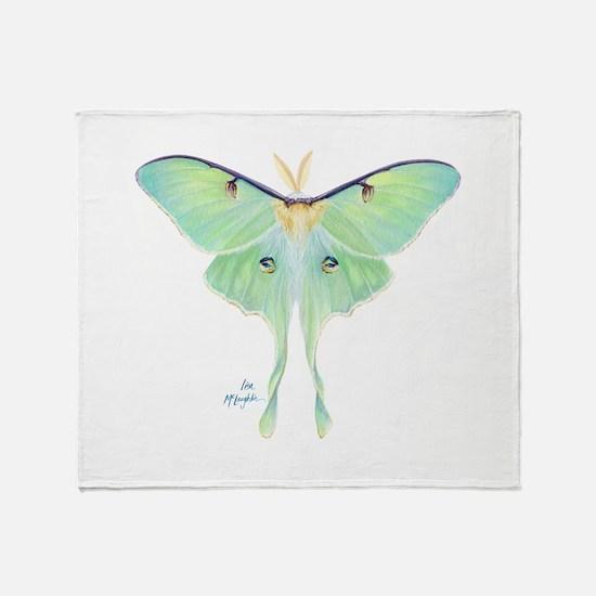 Luna moth Throw Blanket
