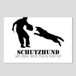 Schutzhund - My dog will fuck you up! Postcards (P