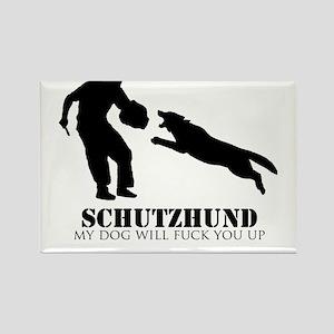 Schutzhund - My dog will fuck you up! Rectangle Ma