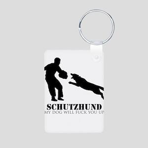Schutzhund - My dog will fuck you up! Aluminum Pho