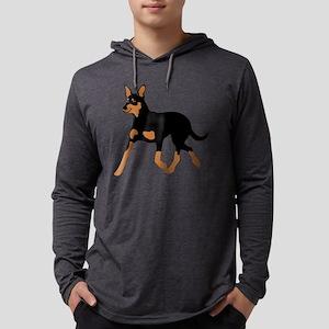 Australian Kelpie Mens Hooded Shirt