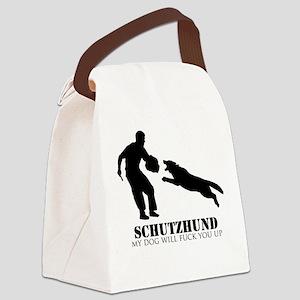 Schutzhund - My dog will fuck you up! Canvas Lunch
