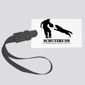 Schutzhund - My dog will fuck you up! Large Luggag