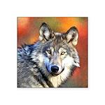 Wolf Art Painting Square Sticker 3