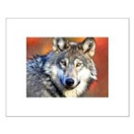 Wolf Art Painting Small Poster