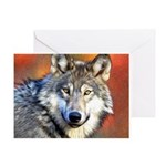 Wolf Art Painting Greeting Card