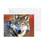 Wolf Art Painting Greeting Cards (Pk of 10)