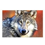 Wolf Art Painting Postcards (Package of 8)