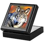 Wolf Art Painting Keepsake Box