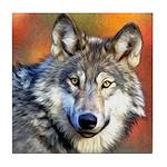 Wolf Art Painting Tile Coaster