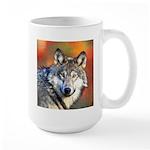 Wolf Art Painting Large Mug