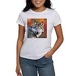 Wolf Art Painting Women's T-Shirt