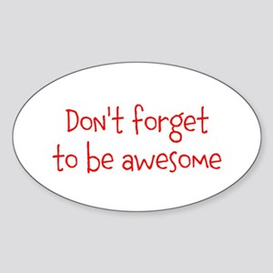 Be Awesome Sticker (Oval)