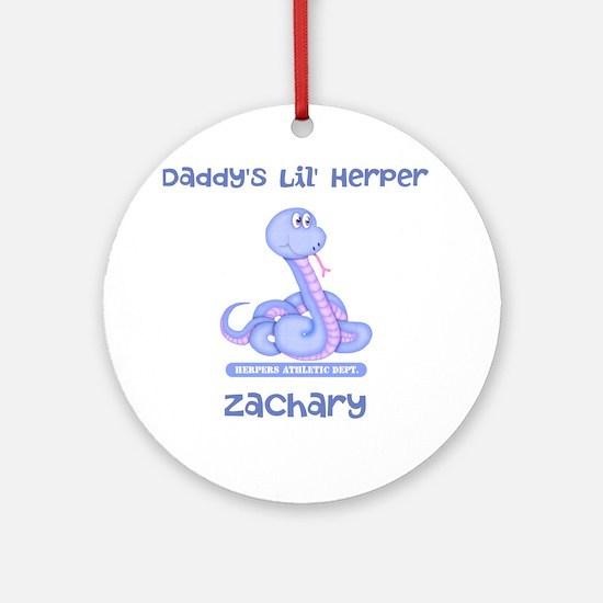 Lil Herper Boy Snake Ornament (Round)