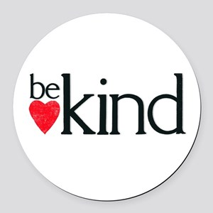 Be kind Round Car Magnet